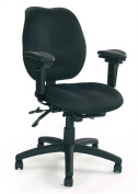 Eliza Tinsley 1435MBSY/ABK Medium Back Multi Functional Task Operator Chair with Adjustable Arms