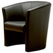 Sonix Tub Chair W720xD660xH760mm Leather Black