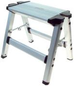 Great Ideas Ultra Lightweight Folding Aluminium Step Stool - Supports 150kg - Secure Locking Mechanism - Folds Flat