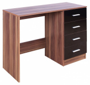High Gloss Ottawa Caspian Black / Walnut Dressing Table Only