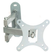 BPS Silver LCD Monitor TV Arm Bracket Wall Mount with Swivel and Tilt - Fits most 25cm - 70cm LCD Flat Panels