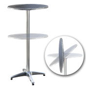 Jago BST04 Bistro Table, Foldable with sitting and standing height