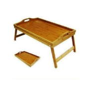 Folding Bamboo Breakfast Tray Large Over Bed Wooden Dining Table Stand Foldable Kitchen ... Brand New