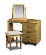 Julian Bowen Pickwick Single Pedestal Dressing Table