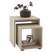FMD Side Table Duo, 45.0 x 48.0 x 40.0 cm, Oak