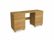 Jitona Jazz 1-Door 5-Drawer Dressing Table, Oak
