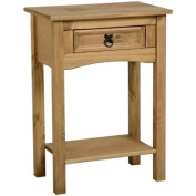 Seconique Corona 1 Drawer Pine Console Table With Shelf