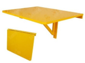 Wall-mounted Drop-leaf Table, Folding Dining Table Desk, Solid Wood Table, 75x60cm, Colour