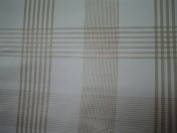 2 METRES PLAIN STRIPES CHECKED LATTE BEIGE WHITE PVC PLASTIC TABLE CLOTH PROTECTOR OIL / VINYL CLOTH