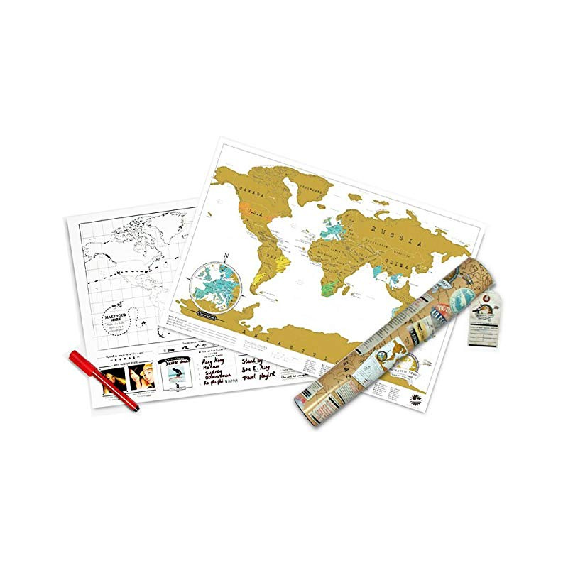 Scratch Map Travel Map – Travel sized personalised Scratch off world on key club posters, tear off posters, peel off posters, kick off posters, dance off posters,