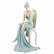Art Deco Broadway Belles Lady Figurine. Blue Teal Colour #79