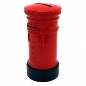 Diecast Traditional Red British Post Box Money Box