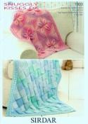 Sirdar Snuggly Kisses DK Baby Shawl Blanket Knitting Pattern 1903