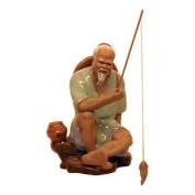 Seated Smiling Fisherman - Chinese Figurine