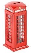 Diecast Traditional Red British Telephone Box Money Box