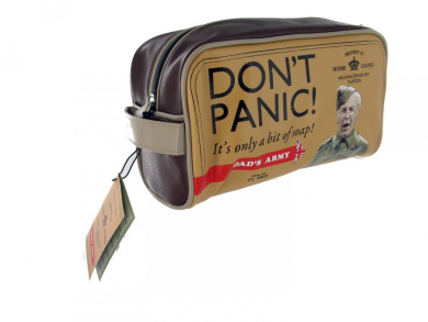 Official Dads Army 'Dont Panic!' Wash Bag (G474) - BBC/War Merchandise - A Great Gift by Gifts For The Present