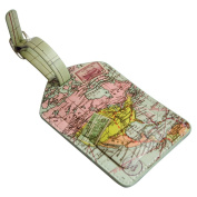 Wild and Wolf Map Luggage Tag