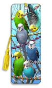 3D Bookmark - Budgies - For Books Kids Everyone