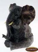 Naturecraft Realistic Grey Elephant Crying With Tear Ornament