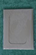 Pack of 4 three-fold rectangular aperture A5 cards - Cream