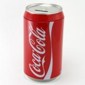 Red Coca-Cola coin Money Jar