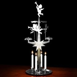 SILVER Angel Chimes - Original Swedish Christmas Decoration - With 4 Candles by Angel Chimes - Shop Online for Homeware in New Zealand