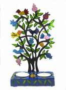 Candlesticks, Birds on a Pomegranate Tree Candle sticks, Candlesticks for shabbath, ideal gift