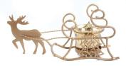 Christmas Decoration Gold Reindeer One Tea Light or Votive Holder