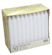 50 x Bistro Table Low Smoke Drip Free Candles 196mm White