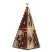 "Kapula candle pyramid ""African Sunset"", 5 x 11 cm"