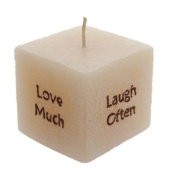 Ivory Vanilla Motto Candle - Set Of Two