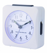 Precision PREC0050 Radio Controlled Alarm Clock, White