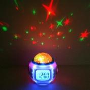 Music Starry Sky Projection Calendar Alarm Clock