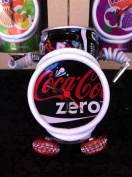 Recycled Coke Zero Can Robot Clock - Recycled Coca Cola Zero can robot alarm clock with picture holders