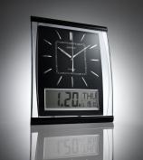 KG Homewares Silent Wall Clock Digital Large Jumbo Display Black