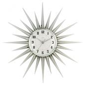 Acctim 21767 Stella Starburst Wall Clock, Silver