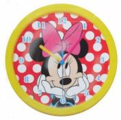 Disney Minnie Mouse Yellow Frame 25cm Wall Clock