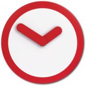 Nextime - Focus Wall Clock - 25 Diameter - Plastic - Red