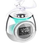 Alarm Clock W/Aroma Heater & Mood Light White