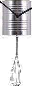 Nextime - Chef Wall Clock - 32 X 11 Diameter - Tin - Silver
