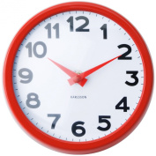 Karlsson Never Out Of Style Steel Wall Clock, Red
