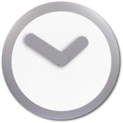 Nextime - Focus Wall Clock - 25 Diameter - Plastic - Silver