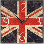 Union Jack Shabby Square Wall Clock