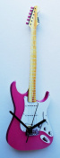 Fender Strat Wall Clock - Pink - G13