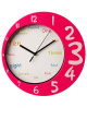 Funky Round Wall Clock Pink