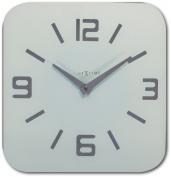 Nextime Shoko Glass Wall Clock, White