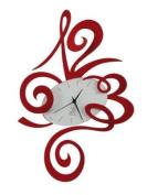 ROBIN WALL CLOCK ITALIAN DESIGN - RED
