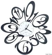 BLUS WALL CLOCK ITALIAN DESIGN - BLACK 56x52 CM