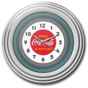 Coca-Cola Clock w/Chrome Finish - 1930s Style - 30cm