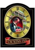 DICKENS INN Vintage English Pub Sign Wall Clock